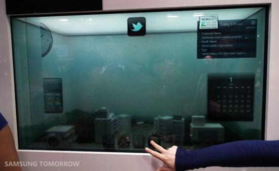 三星 不光有OLED 我们还有透明LCD
