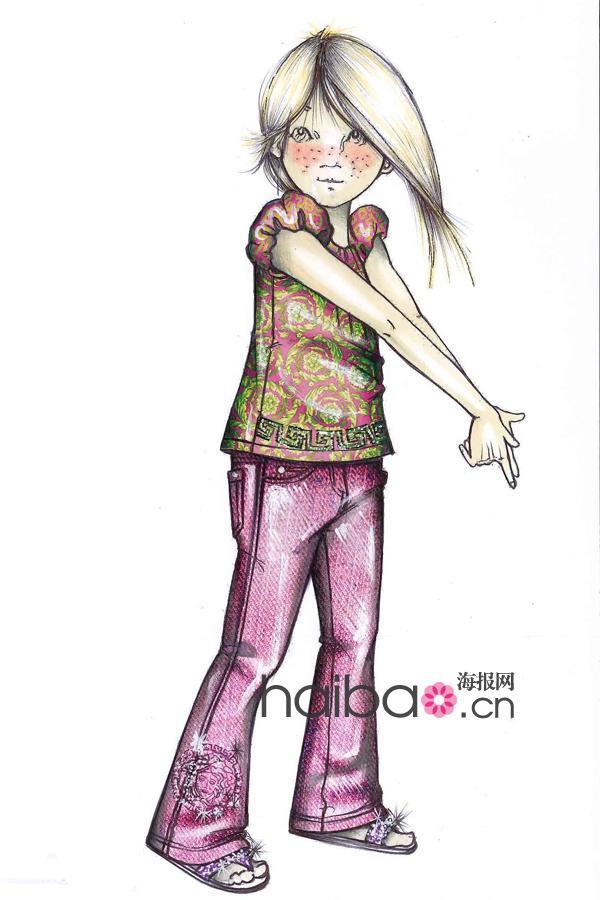 潮服装设计图手绘