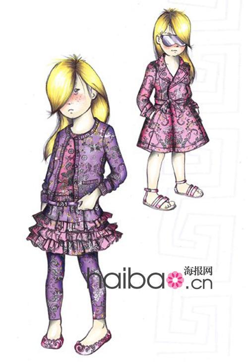 童装大赛设计手绘