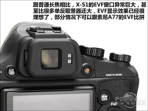 富士X-S1的电子取景器(EVF)