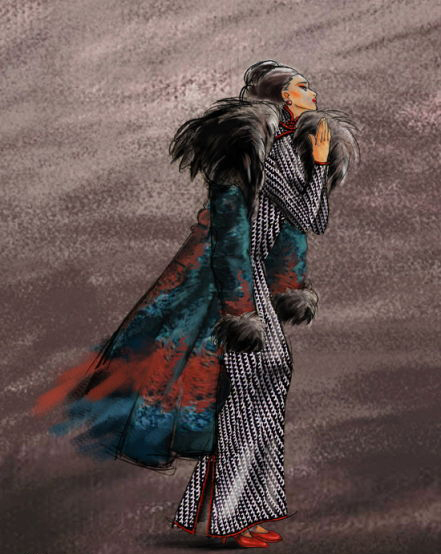 《金陵十三钗》人物手绘图 妩媚风情绝代