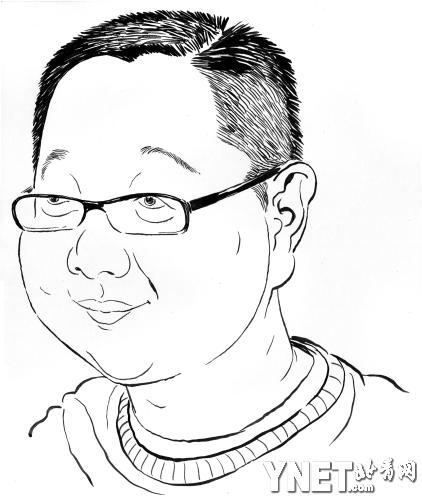 中年男人手绘图
