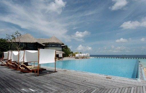 马尔代夫酒店。