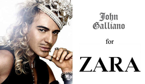 John Galliano for ZARA的传言有待证实