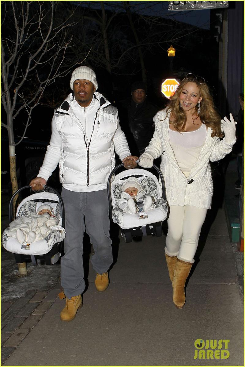 高清:玛丽亚?凯莉与老公提儿女跨年 双胞胎秀
