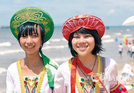 防城港的少数民族京族少女