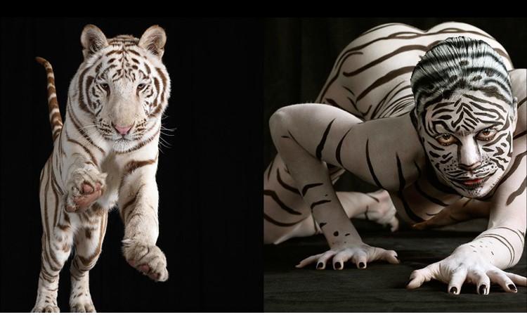 人兽同体的人体彩绘之美(组图)