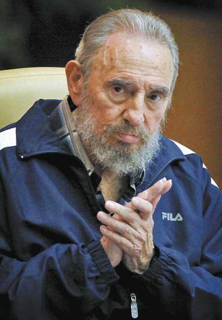 古巴前领导人菲德尔 卡斯特罗 国新提供