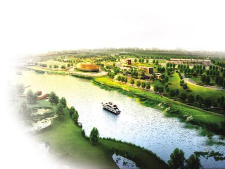 沣河景观带效果图