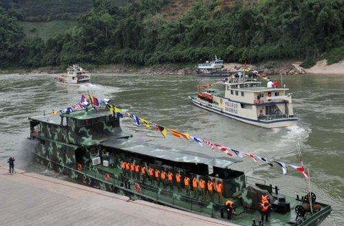 12月10日,中老缅泰湄公河联合巡逻执法船从西双版纳关累港出发