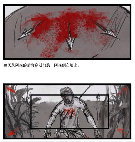 """这样看起来""""重口味""""的手绘图来自于电影《惊魂游戏》."""