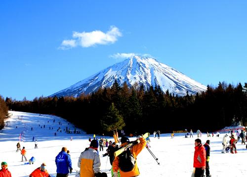 日本富士天神山滑雪场