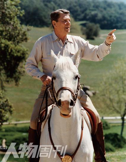 里根 戴尔/1986年4月8日,美国总统里根