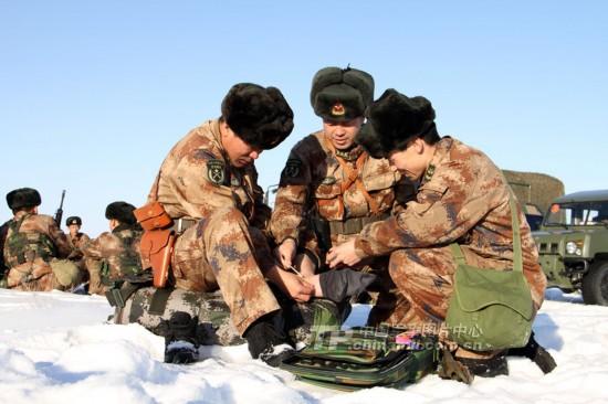 解放军边防团战士