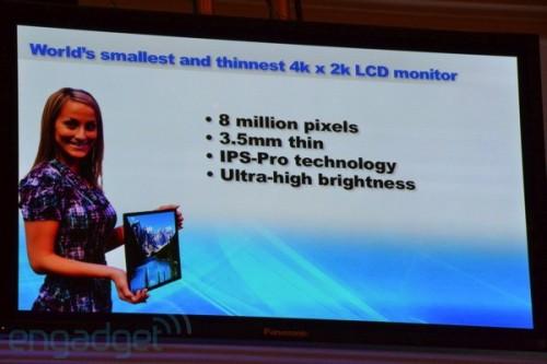 松下推出20英寸4K×2K超高分辨率IPS屏幕