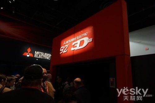 CES2012:3D巨无霸 三菱92英寸3D DLP电视
