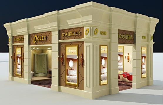 欧式体验,展馆设计一脉传承   本届中国水暖交易会仑苍展会,欧联
