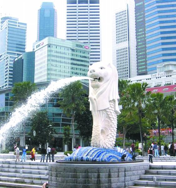 非常新加坡之鱼尾狮(图)