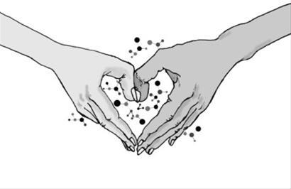 传递爱心手绘图