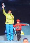 图文:冬运会闭幕式举行 王霏亮相闭幕式