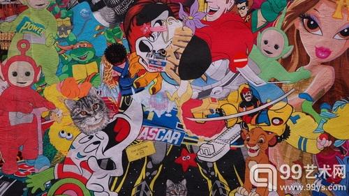 其他国家的作品,以卡通人物为素材的创作也不少见