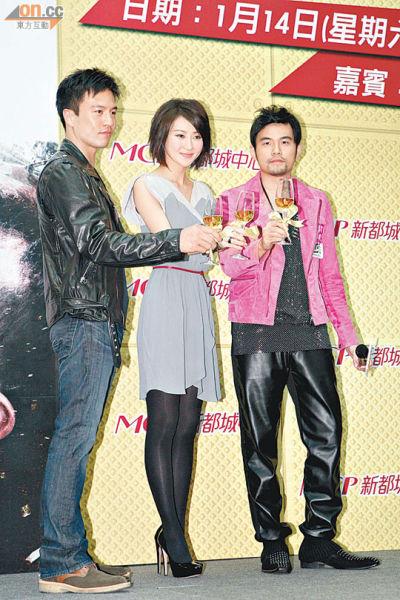 安志杰(左)透露谢婷婷一家人都会出席电影的首映活动。