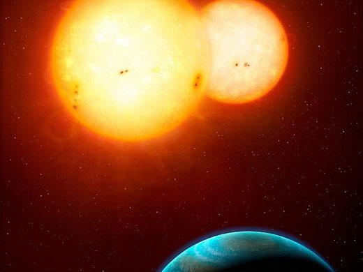 NASA的开普勒望远镜新发现了两颗拥有两个太阳的的行星系统:开普勒-34和开普勒-35