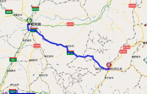 哈尔滨至牡丹江段 从哈尔滨香坊区g301国道附近