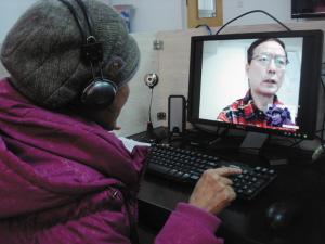 东北老头操妇女视频_亲情视频解老人思念之苦(图)
