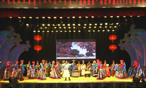 春节联欢晚会2012_科右中旗举办2012年春节联欢晚会(组图)