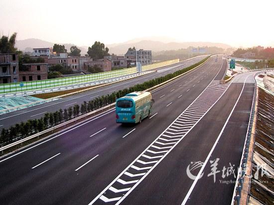 路宽车稀,广河高速未有 春运感