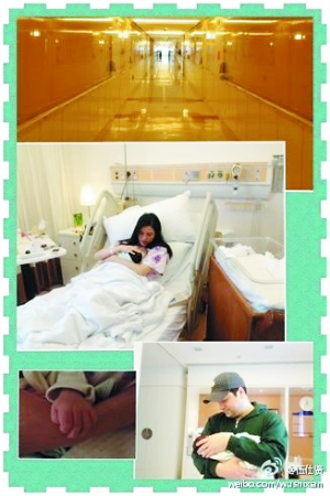 伍仕贤微博_伍仕贤在微博曝光了龚蓓苾怀抱婴儿的照片以及孩子的小拳头.