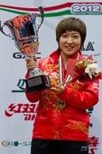图文:[乒乓球]2012匈牙利赛 刘诗雯夺冠