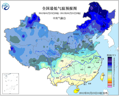 寒冷席卷大江南北 雨雪留恋南方地区(组图)