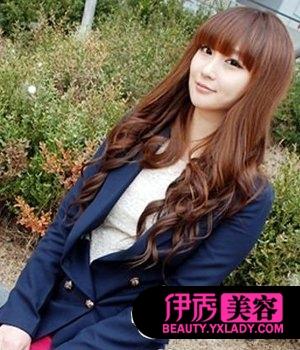 韩式长卷发图片
