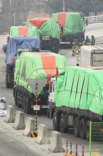 民间组织27日向朝提供金正日去世后第一批面粉援助韩联社