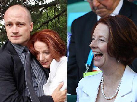 左图:昨天澳洲总理被解救 右图:今天现场看澳网