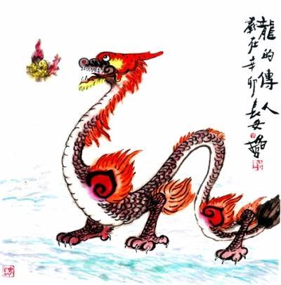 """绘画作品中的""""龙"""":草龙以s型变化颇别致(图)"""