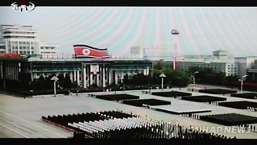 资料图片:2010年10月,朝鲜举行大型阅兵式,庆祝劳动党建党65周年。韩联社