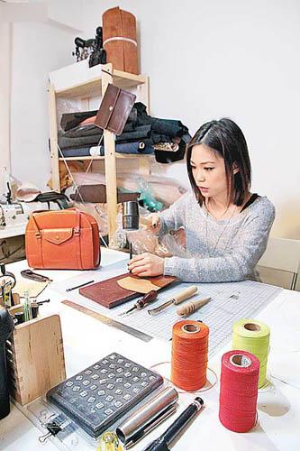 diy手工皮具缝线方法