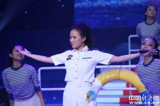 海军美女歌手楼兰完美绽放《星光大道》(图)