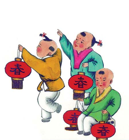 秦腔剧团的演员也有穿上戏服的,随行伴奏的七八人一组,挨家商铺拜年图片