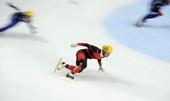 图文:短道世界杯俄罗斯站 中国队选手梁文豪