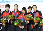 图文:短道世界杯俄罗斯站 中国女队接力摘金