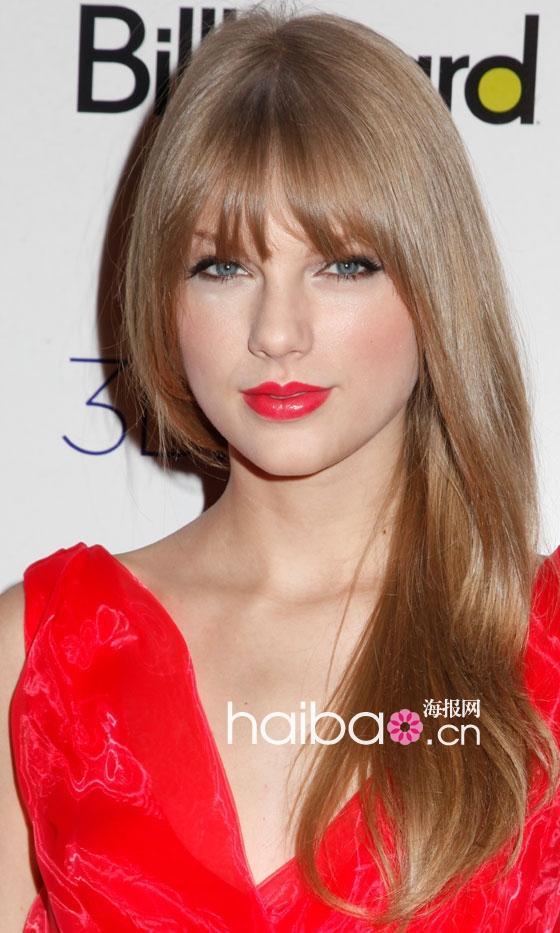 欧美明星发型秀之减龄刘海发型,西方面孔也有