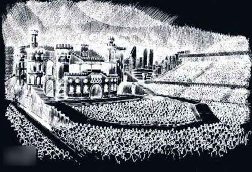 Lady Gaga同时披露个唱舞台设计草图。