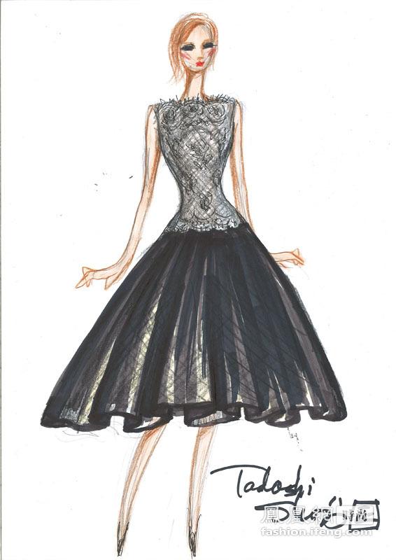 晚礼服设计图手稿图片 晚礼服设计图手稿,晚礼服设计图铅笔-婚纱礼图片