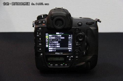 CP+真机实拍 尼康顶级单反相机D4外观图