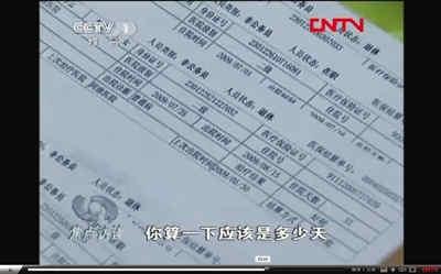 哈尔滨市阿城区阿继医院,被指利用虚构病人住院,套取医保金。央视视频截图
