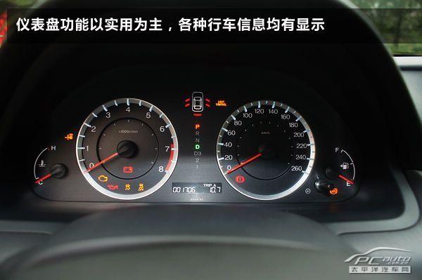 仪表盘功能以实用为主,各种行车信息均有显示.图片